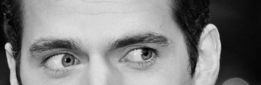 close up of man's eyes looking to the left
