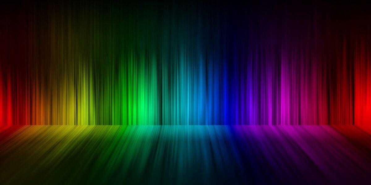 Full spectrum rainbow with reflection
